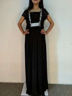 Gaun dress black preloved