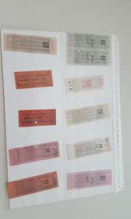 Vintage antique retro bus ticket set #2