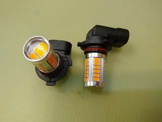 9006 LED 12V 燈膽一對[橙王光]