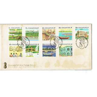 FDC #338  Singapore Definitive Postage Stamps conitions of stamps and cover as in picture