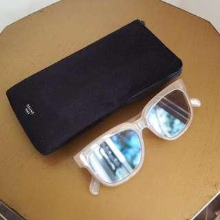 Celine Pink/Nude Wayfarer Style Sunglasses