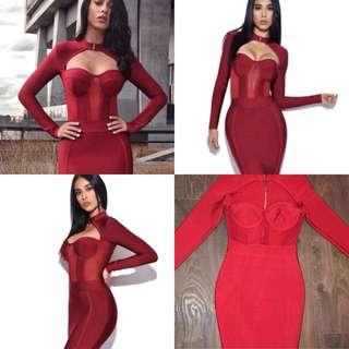 Loreta red dress