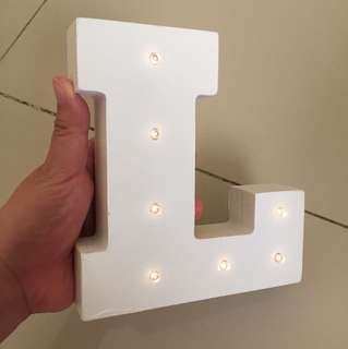 Ready Huruf LED L imported China Jual rugi