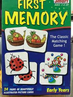 First Memory matching game