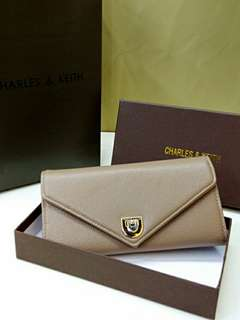 Charles & Keith Wallet Khaki Color