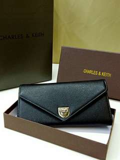 Charles & Keith Wallet Black Color