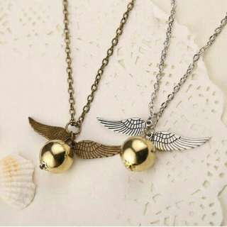 Harry Potter snitch ball necklace