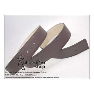 # 4695-02. Authentic Hermes 32mm Belt Kit Leather Etuope Togo Cream Swift Size: 80 cm (*ONLINE PURCHASE ONLY)