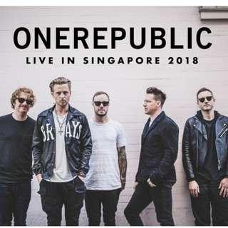 2X Tix OneRepublic Live in Singapore 2018