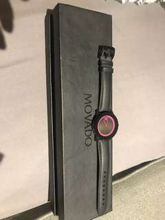Movado pink/black bold watch (never worn)