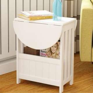 慳位可摺雜誌茶几架($298包送貨)桌面360旋轉書櫃床頭櫃