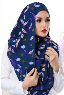 Elora Printed FEATHER BLUE
