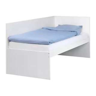 IKEA 單人床 床架帶床頭板+床板