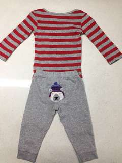 Carter's bodysuit with pants set