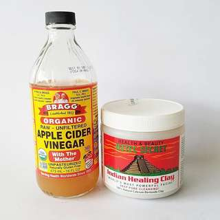 AZTEC HEALING CLAY(50g) + APPLE CIDER VINEGAR (30ml)