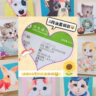 🌈😸慈善DIY數字油畫💝已上色/未上色油畫,將以每幅捐💲2️⃣0️⃣到「尊善會」幫助流浪貓貓🐱