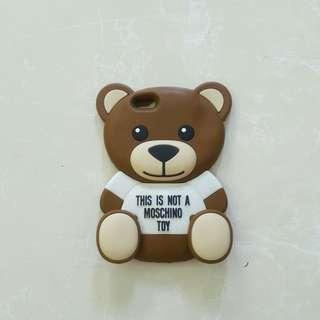 Moschino teddy soft case iphone 6+