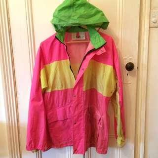 Vintage Hi-Vis Rain Jacket
