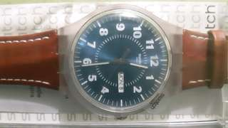 Swatch (Leather Strap and Brand New)