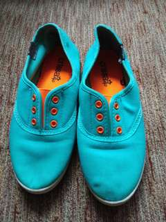 Blue pink carissa shoes