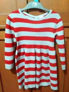 Stripe dress HnM