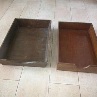Old Wooden Trays