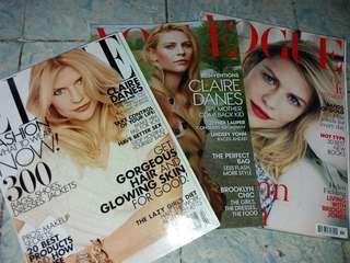 Bundle - Claire Danes Magazines