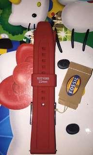 fossil rubber strap original