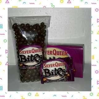 Silverqueen bites cashew/almond/dark chocolate