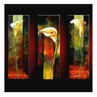 Yellow Flower Panel Oil Painting 3 Piece Set