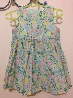 H&M Green floral dress for kids 1-3 yrs old (EUR74 on tag)