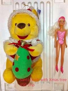 Pooh Nurse & Santa Stuff Toys