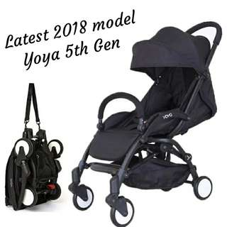 (SPECIAL DEAL) BN Cabin Size Lightweight Baby Stroller in Full Black