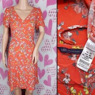 Marks & Spencer Floral V-neck Midi Dress