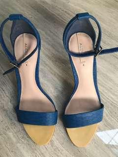 Aldo blue shoes