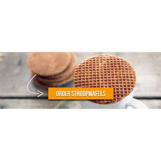 Chocolate / Caramel / Mini Stroopwafel imported from Netherlands