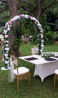 Rental of wedding arch Self collect
