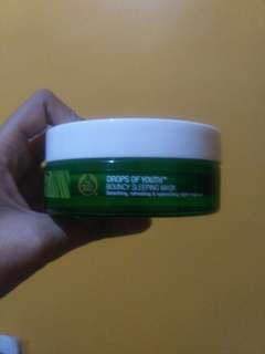 the body shop drop of youth sleeping mask