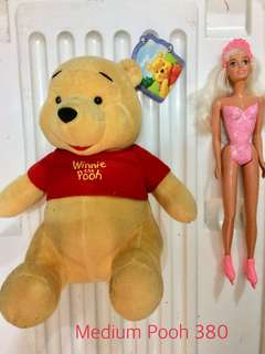 Pooh stuff toy Med size