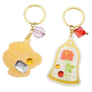 日本 Disney Store 直送 Beauty and the Beast 茶煲太太掛飾匙扣套裝