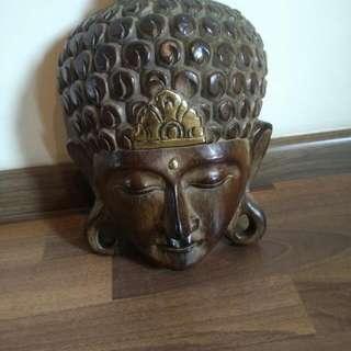 Wooden Buddha Face Antique