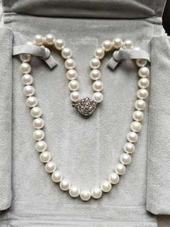 8.5~9mm Japanese Cultured Pearl Necklace 45cm Long