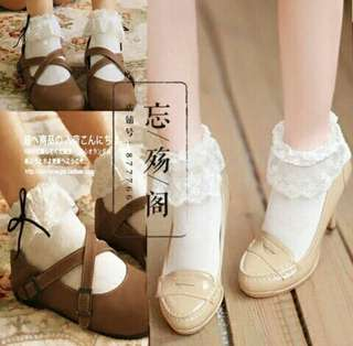 🆕 White lace Lolita socks