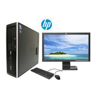 "CHEAPEST BRAND NEW HP COMPAQ DESKTOP INTEL CORE 2 DUO / 4GB RAM  / 250 GB HDD /WINDOWS 7 PRO FREE UPGRADE TO WINDOWS 10 PRO WITH "" 18.5 INCH LCD MONITOR"