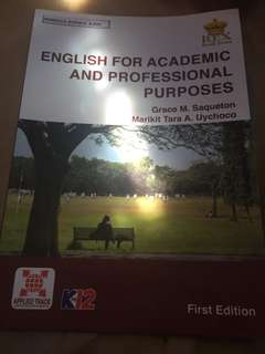 English for academic and professional purposes grade 11