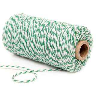 Cotton Bakers Twine 100 Yards – Pine Green