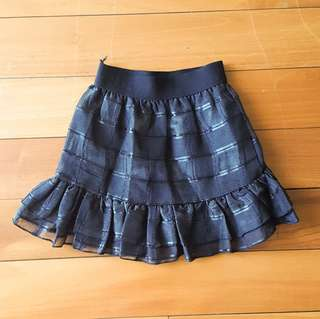(NEW) Girl skirt with checkered detail