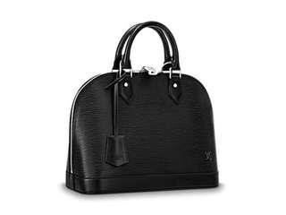 Louis Vuitton black alma BB