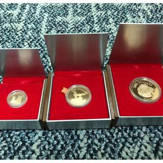 Singapore 1975 10th Anniversary of Independence Gold Proof Coins - Very Rare