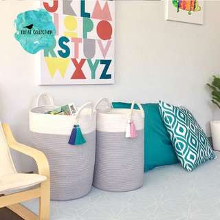 Cotton Rope Toy / Laundry Storage Baskets